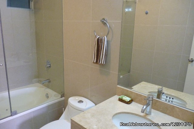 En-suite Master Bathroom - Brand new luxury condo in Av. Larco, Miraflores