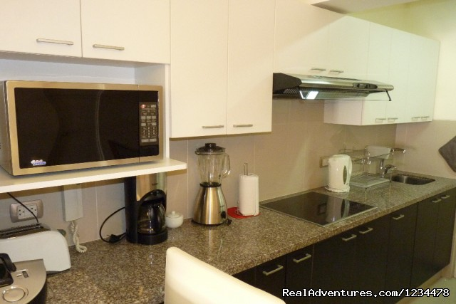 Kitchen closeup - Brand new luxury condo in Av. Larco, Miraflores