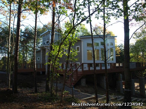 - The Glass House in the Heart of  Hocking Hills