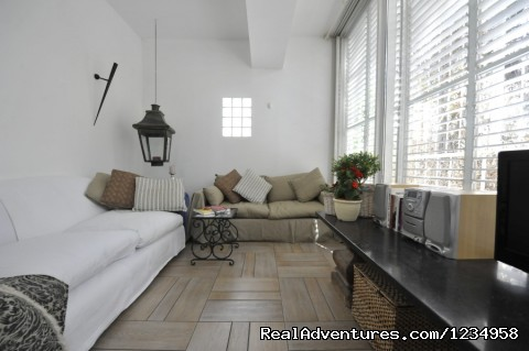 Living Room - Deluxe Apartment for Vacation Rental in Tel Aviv