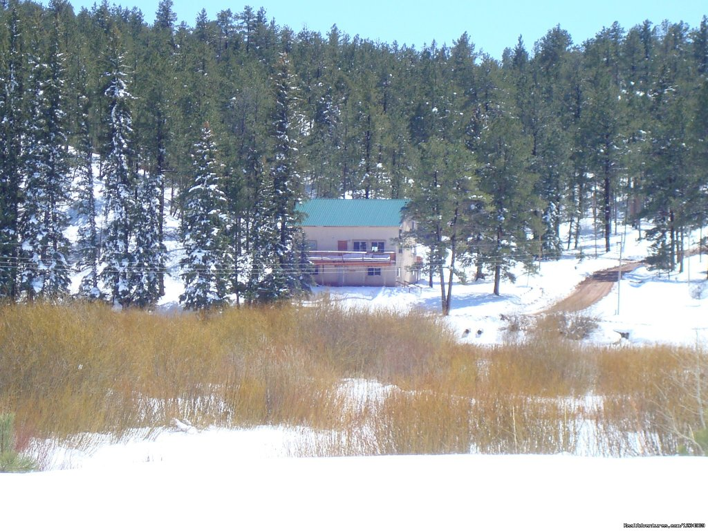 Winter picture of the house. | Image #25/26 | Pikes Peak Retreat In Pikes National Forest