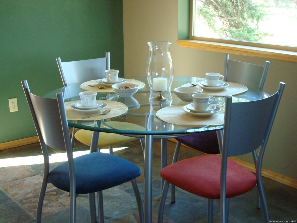 Breakfast area: complimentary breakfast basket upon arrival | Image #7/26 | Pikes Peak Retreat In Pikes National Forest
