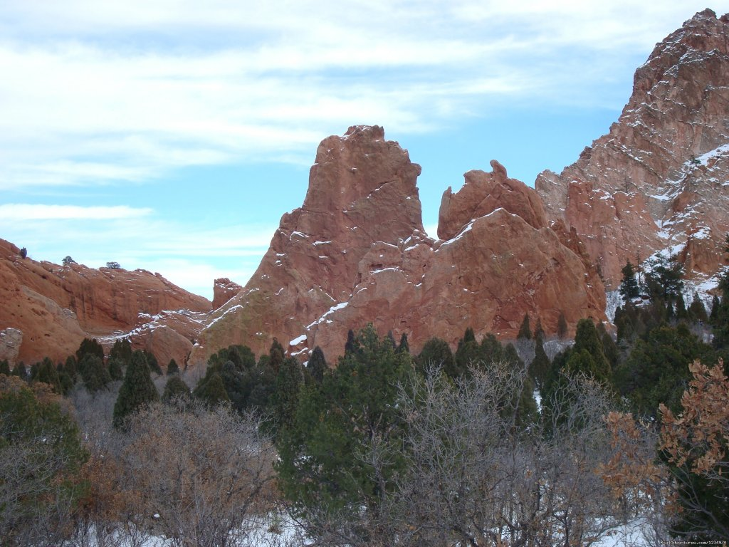 Garden of the Gods in the winter | Image #21/26 | Pikes Peak Cottage By Garden Of The Gods: Mnt View