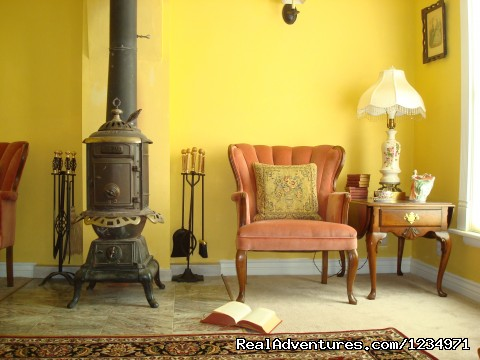 Cozy Living Room. Detail. - Victorian Retreat In Historic Town:  Mtn View