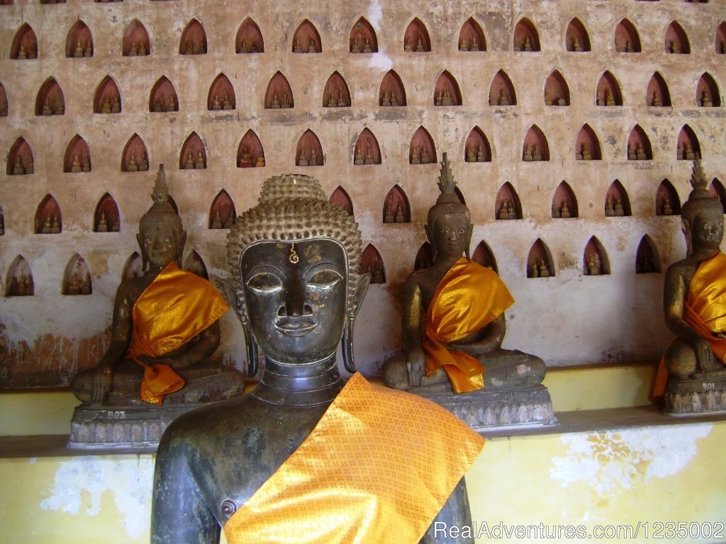 Visit Highlight of Vientiane the capital of Laos in Morning and Buddha Park