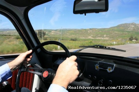 500 Vintage Tour - Driving a Fiat 500   - Classic Car Tour in Sicily