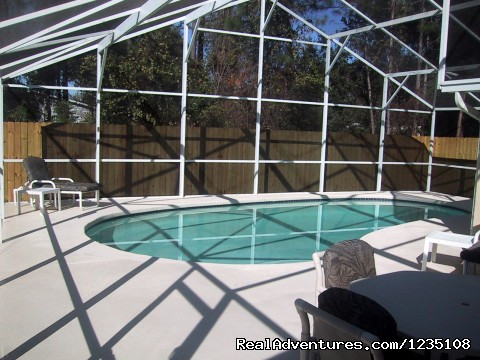 Sunny Pool Deck - Florida Villa In Kissimmee 3Bed Windward Cay