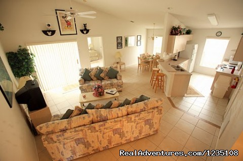 Open Floor Plan Lounge / Living Room - Florida Villa In Kissimmee 3Bed Windward Cay