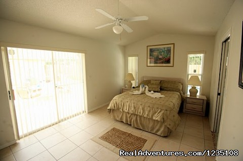Master Bedroom - Florida Villa In Kissimmee 3Bed Windward Cay