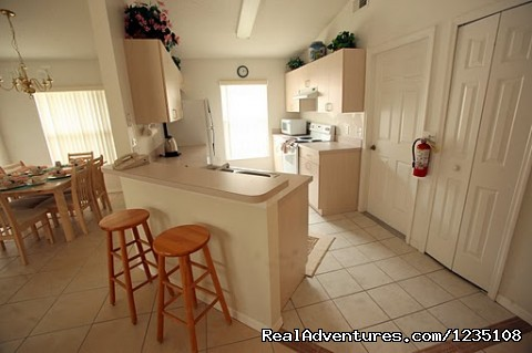 Kitchen Area - Florida Villa In Kissimmee 3Bed Windward Cay