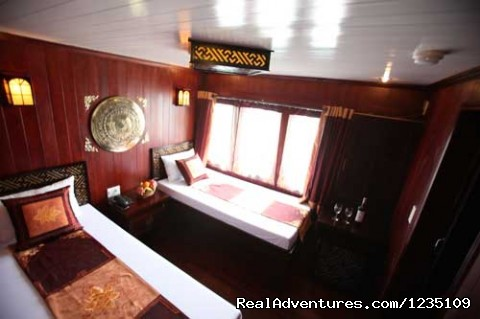 Cabin on boat - Hanoi Impressive Hotel: The best Hotel in Hanoi.