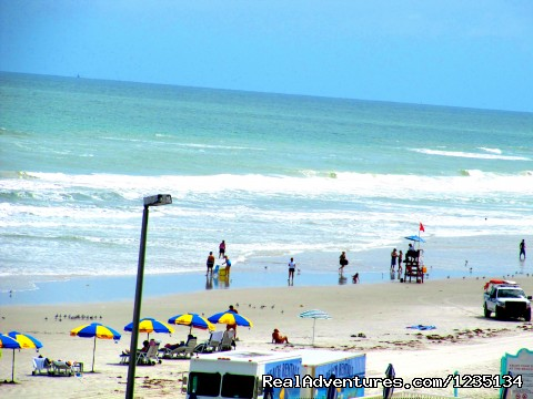 Looking Out At The Beach - Dream Vacation Ocean Side Condo, Daytona Beach