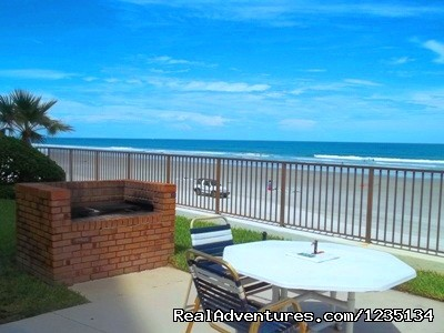 Outside Barbercue Grill. - Dream Vacation Ocean Side Condo, Daytona Beach
