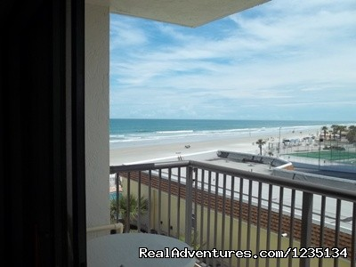 Balcony Access From Master Bedroom. (#10 of 22) - Dream Vacation Ocean Side Condo, Daytona Beach