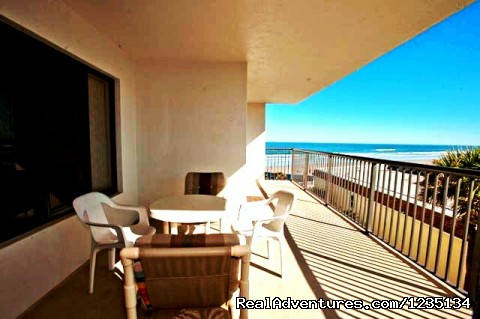 Balcony - Dream Vacation Ocean Side Condo, Daytona Beach