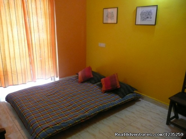 Low bed- Futon - Fun Holidays Goa- AC 1 BHKs in a Resort, Calangute