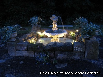 The Barn Inn Bed and Breakfast, Fountain at night