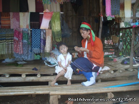 Mother and Child in Long Neck Village - THE Rainforest Retreat Experience in Thailand