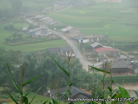Sapa town from height - Sapa adventure 2 days 1 night by bus