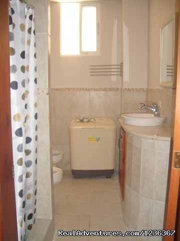bathroom/shower/washer/dryer - Affordable, Deluxe studio, Bavaro- Punta Cana