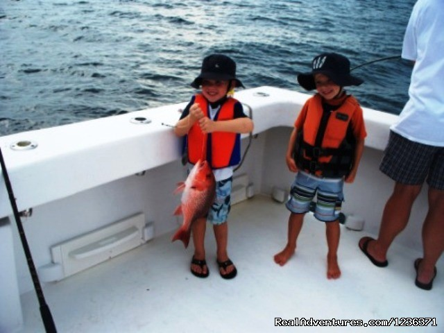 Kids day on the boat