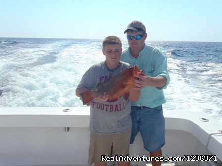 Father and Son Day on the Water - Alabama Charter Fishing on the Intimidator