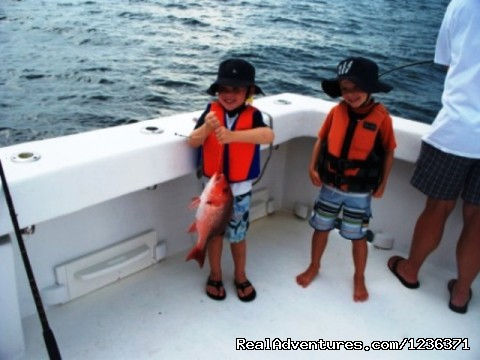 Kids day on the boat - Alabama Charter Fishing on the Intimidator