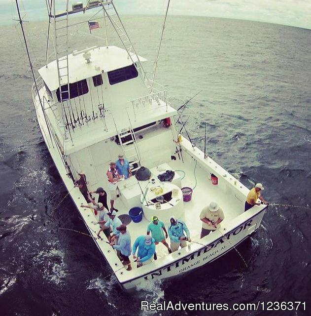 The Intimidator is a really big boat - Alabama Charter Fishing on the Intimidator