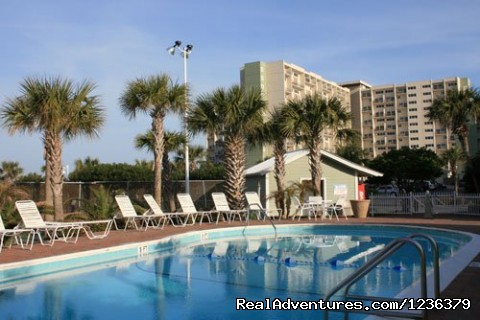 View of the smaller 18,000 gallon pool. Very private. - Luxury Waterfront Condo on Panama City Beach