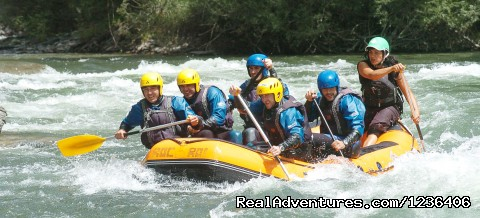 Group enjoying Rafting - White Water Rafting in Pyrenees