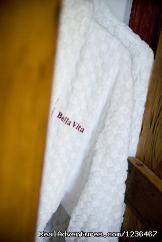 Cozy Robes await you - Private Tuscan Suite on  a North Fork Vineyard