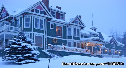 The Greenville Inn's Elegance at Dusk - Greenville Inn at Moosehead Lake
