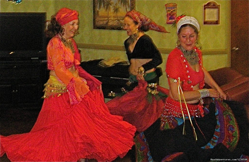 Bellydance troupe in performance