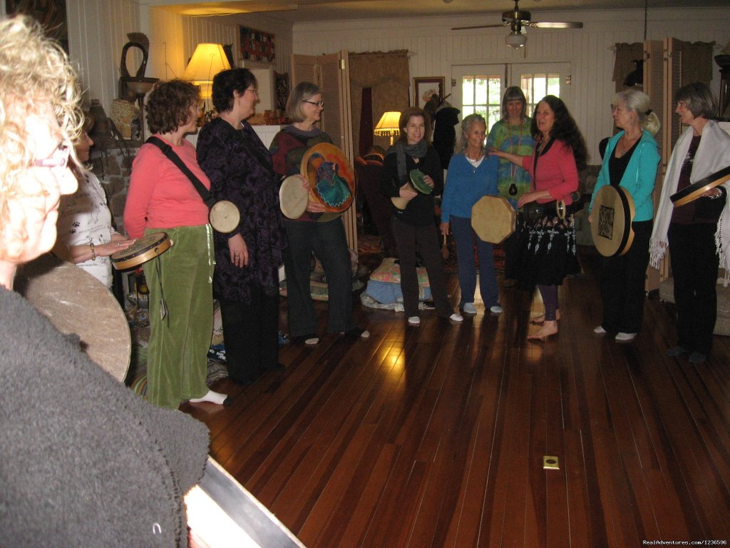 Women's drumming | Image #8/25 | Renew & Relax at Fire Om Earth Retreat Center