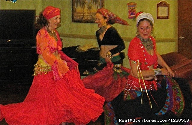Bellydance troupe in performance - Renew & Relax at Fire Om Earth Retreat Center