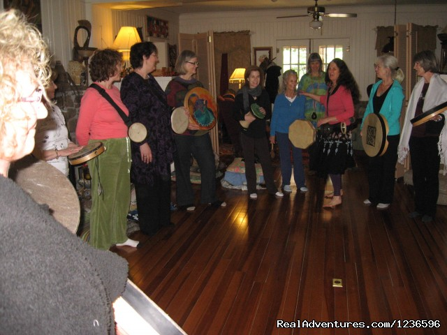 Women's drumming - Renew & Relax at Fire Om Earth Retreat Center