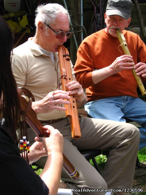 Playing Flutes (#11 of 25) - Renew & Relax at Fire Om Earth Retreat Center