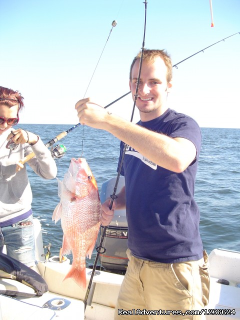 Seth w/Snapper - Adventure Charters and Dive
