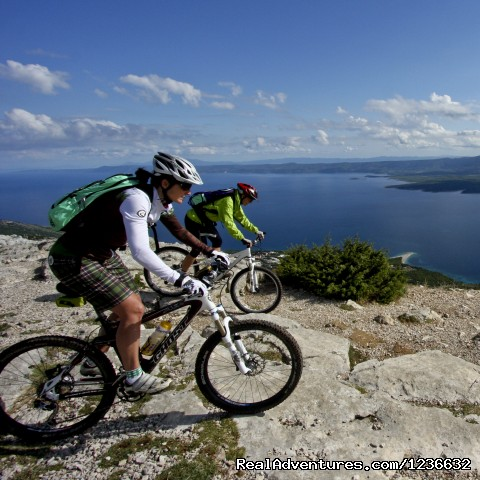 The peak of Adriatic islands on island of Brac - Mountain biking holidays on island of Vis, Croatia