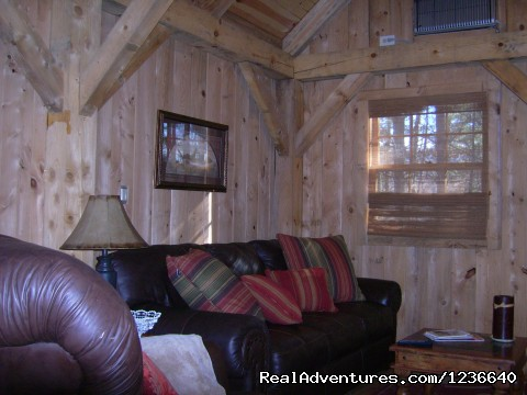 Living Room Sofa - Seneca Point Cabins - Ohio's Best Kept Secret