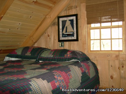 Double Bed in Loft - Seneca Point Cabins - Ohio's Best Kept Secret
