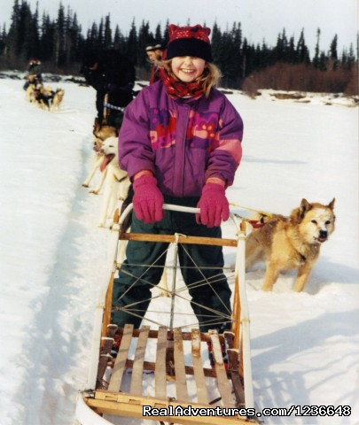 Riding the second sled - Sled Dog Adventures
