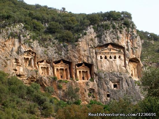 Rock carved tombs at Caunos,Front View (#18 of 18) - Blue Cruise in Turkey