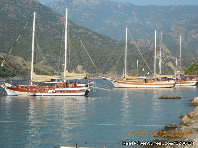 Gulet on island.. (#12 of 18) - Blue Cruise in Turkey