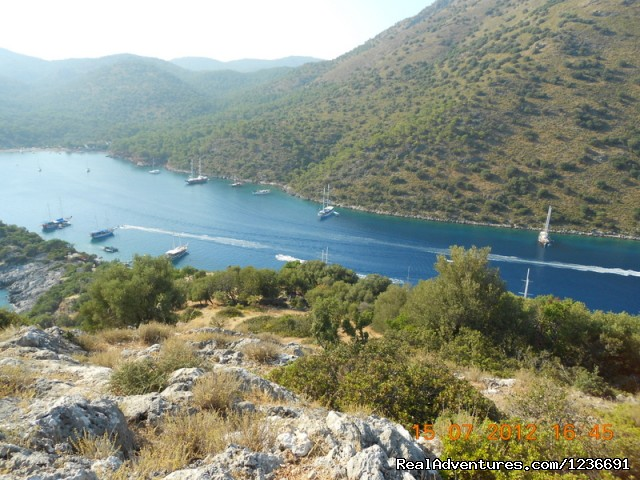 The view from the top of St.Nicholaus Island in Fethiye. - Blue Cruise in Turkey
