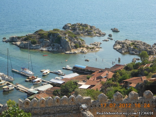 The view from Simena Castle. - Blue Cruise in Turkey