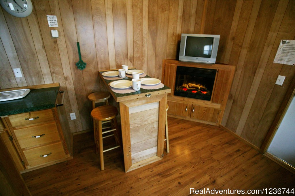 New Deluxe Cabin - Dinette | Image #13/14 | Arrowhead Resort Campground