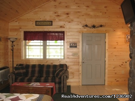 Cabin 10 interior - Beautiful Weekends or Vacations At 7 C's Lodging