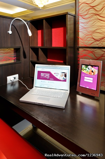 Private Work Stations with iPad and Laptop Connectivity - Your Success Matters at the Crowne Plaza Portland