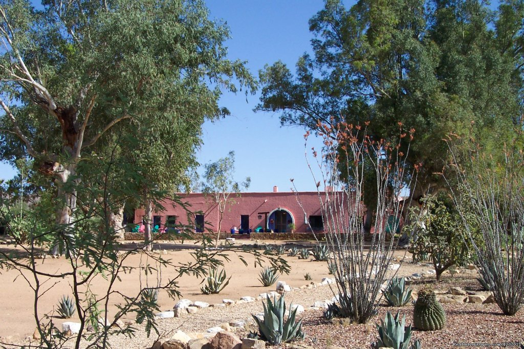 Located 65 miles southwest of Tucson, this historic property was established as a mission outpost by the Jesuits in the early 1700's and opened as a guest ranch in 1924.  Rates include lodging, all meals, and horseback riding and hiking activities.